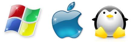 Logos de Windows, Apple, Linux